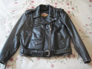 Harley Davidson Distressed Leather Jacket El Camino Womens XL Excelent