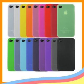 1PC Silicone Soft Back Cover Case Skin for Apple iPhone 4S 4 4G 4GS