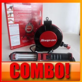 new snap on retractable extension cord reel shop light list price $ 79