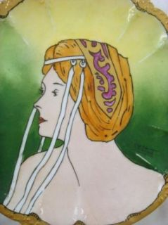 Gerard Dufraisseix Abbot GDA Limoges France Art Nouveau Portrait Lady