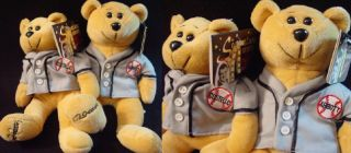 Collecticritters 1999 Abbott Costello Who What Teddy Bear Plush Who