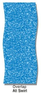 All Swirl Pattern Oval Above Ground Swimming Pool Overlap Liner