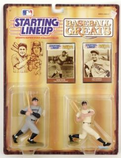 Baseball Greats Babe Ruth Lou Gehrig Starting Lineup Action Figures