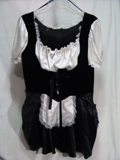 French Maid ⊰☆⊱ Costume Dress Adult Large L XL