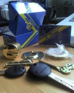 High Security Lock Rim Mortise Junior Cylinder 3KEYS Assa Abloy
