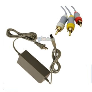 USA AC Adapter Power AV Connection Cord Cable for Nintendo Wii