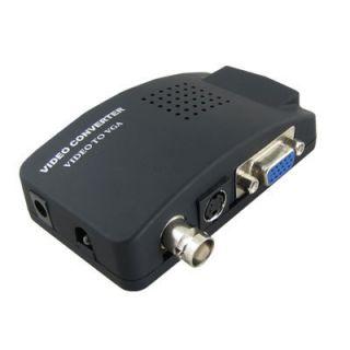 AV BNC to VGA Component Box CCTV Video Converter Adapter