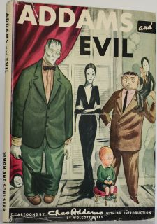 Charles Addams Addams and Evil RARE in Jacket 6th