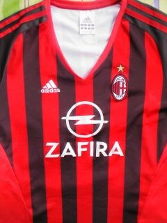 2005 2006 AC Milan Football Soccer Shirt Jersey for Ladies Sz Large