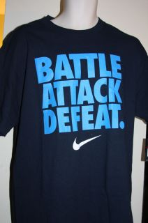 Battle Attack Defeat Loose Fit Navy Active T Shirt 428681 451