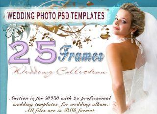 Best Wedding Frame Backgroud PSD Photoshop Templates 2