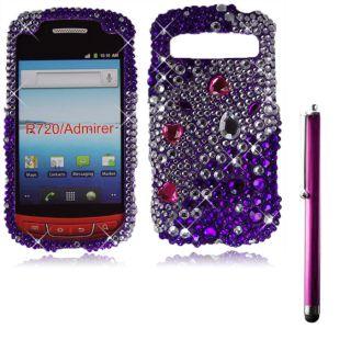 For Samsung Admire R720 Metro Pcs Purple Diamond Bling Case Cover