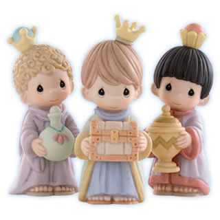 Collectible Precious Moments Let US Adore Nativity 3 Kings Brand New