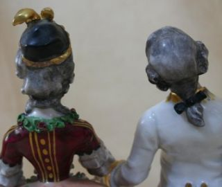 Germany Porcelain Figurine of Man and Woman Ackermann Fritze