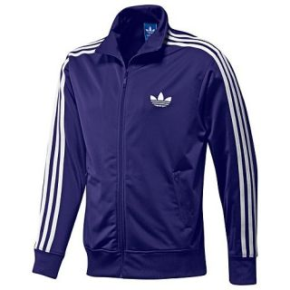 Adidas Originals Purple Mens Firebird Track Suit White Stripes Size s
