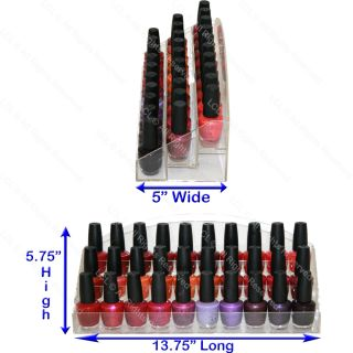 Acrylic Nail Polish Table Counter Display Rack Stand Spa Beauty Salon