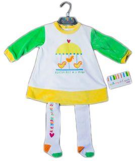 Agatha Ruiz de La Prada Little Ducks Set Dress Tights Socks Baby