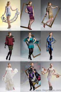 Artistic clothing clothes scarf silk, merino ,handmade, nuno felting