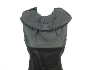 NEW AGOSTINO Black Silk Sleeveless Cocktail Dress