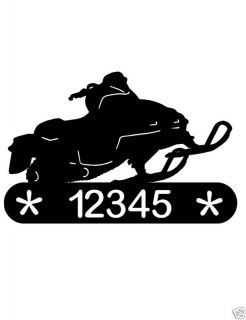 Snowmobile Address Sign Home Decor Metal Ski Doo Plaque