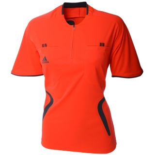 Adidas Womens Short Sleeve Soccer Referee Jersey Top Ladies Shirt