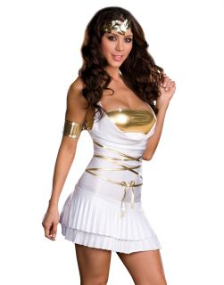Sexy White Greek Goddess Lustalicious Adult Halloween Costume Dress