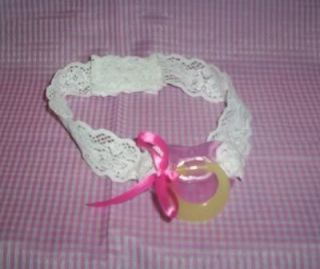 Custom Made for Adult Sissy Baby Strap on Time Out Pacifier Pink for