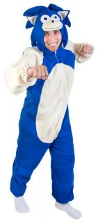 Adult Sonic Hedgehog Video Games Halloween Costume Funny Retro One