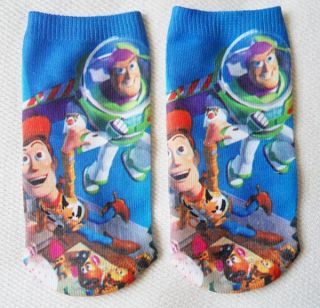 New Disney Toy Story Ankle Socks Adult Kids 5 6