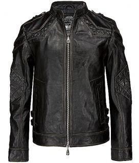 New Affliction Black Premium Leather Jacket Gear Up Limited Sz s