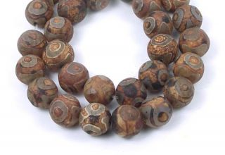 12mm tibetan old agate round beads 16 pcs