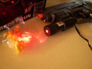Airsoft Gun Pistol w Laser Free BBs Shoots Great New We Sell Rifles