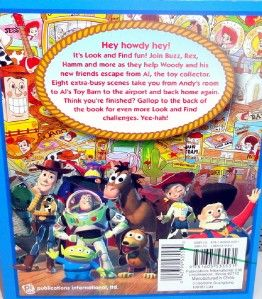 Disney Pixar Toy Story 2 Book SC Scavenger Hunt Learn 2 Match