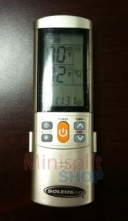 Soleus Mini Split Air Conditioner Remote Control KFR 24