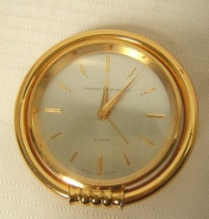 Concord Swiss 15 Jewel Alarm 8 Day Clock Brass