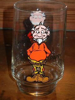 1975 Al Capp Sneaky Petes Pappy Glass Pepsi Promo Lil Abners