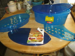Pasta N More Microwave Steamer Cooker New