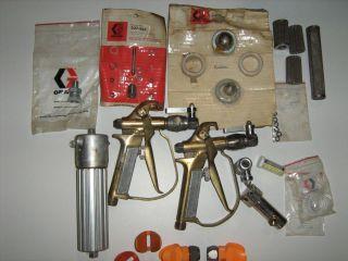 Graco airless parts lot Hydra Mastic brass hand gun paint sprayer