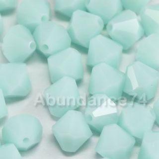 Swarovski Crystal Elements 5301 8mm Bicone Beads Mint Alabaster
