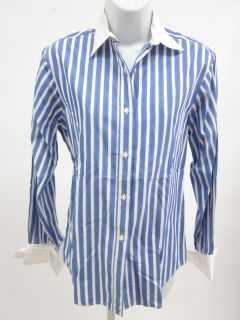 Alain Figaret Purple White Stripes Dress Shirt Top 36