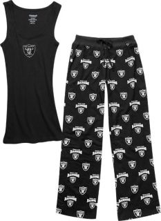 Oakland Raiders Womens Supreme Black Tank Top and Pants Set