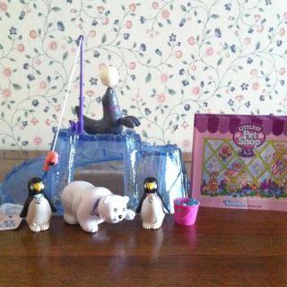 Vintage Littlest Pet Shop Zoo Polar Pets Penguin 100