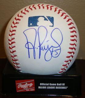 Albert Pujols autographed signed baseball GAI LOA Angels autograph