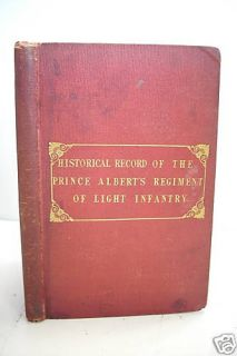 1848 Historical Record Prince Alberts Light Infantry