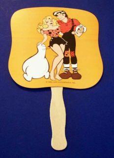 1968 Promotional Hand Fan Little Lil Abner Al Capp M