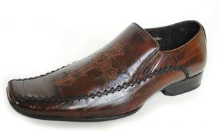 Delli Aldo Italian Style Dress Shoes Brown 355 Men Size