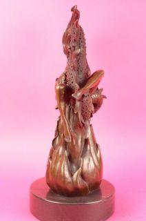 Boris Vallejo Maiden of The Dragons Axe Bronze Statue Sculpture