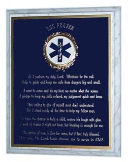 LOVELY PARAMEDIC EMT EMS PRAYER PLAQUE GREAT GIFT OR AWARD