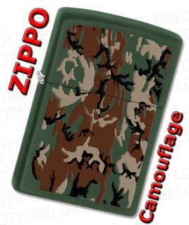 Zippo Camouflage Green Matte Windproof Lighter 28330 **NEW**