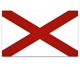 Alabama State Flag American USA Car Vinyl Window Bumper Sticker Decal